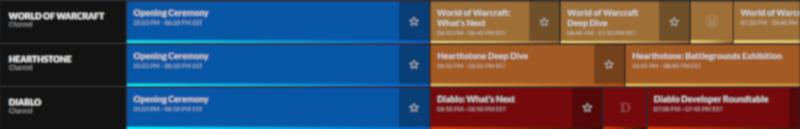 BlizzConline Schedule