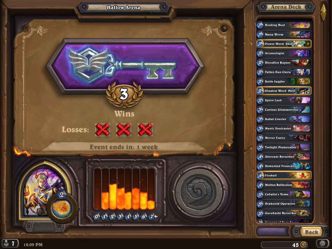 Arena Bug: Run ends on 2 loses, not 3  - The Arena