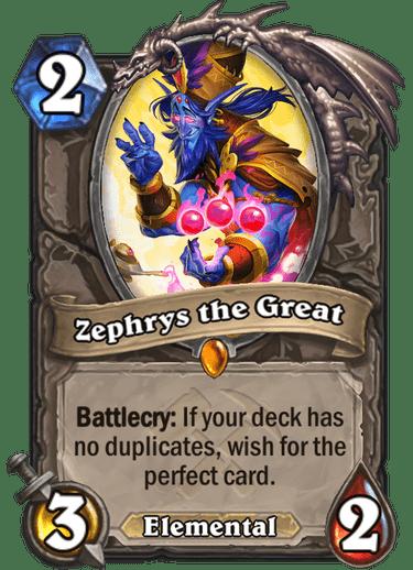 Kết quả hình ảnh cho zephrys the hearthstone