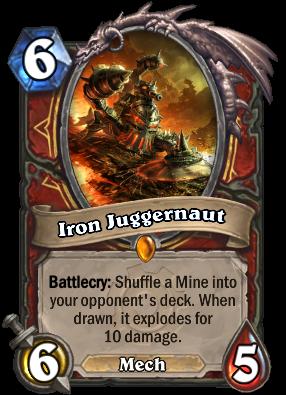 Iron Juggernaut Hearthstone Cards